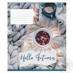 Зошит учнівський 1Вересня Hello Autumn А5 18 клітинка - купить, цены на Novus - фото 1