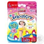 Трусики-підгузники для плавання Goo.N для дівчаток 9-14 кг, на зріст 70-90 см, розмір L,  753645