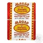 Масло Новгород-Сіверський Селянське солодковершкове 82.5% 200г - купити, ціни на Novus - фото 1