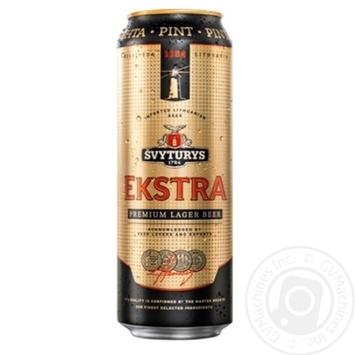 Пиво Svyturys Ekstra светлое ж/б 5,2% 0,568л - купить, цены на Novus - фото 1
