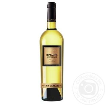 Вино Inkerman Шардоне Качинское белое сухое 10-14% 0,75л - купить, цены на Novus - фото 1