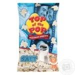 Top of Pop Salt Flavor Popcorn for Microwave Oven 100g - buy, prices for Novus - image 1