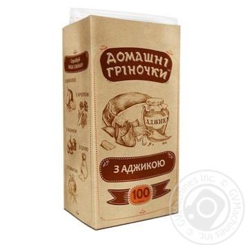Domashni Grinochki Toasts with adjika 100g - buy, prices for Auchan - photo 3
