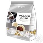 Конфеты Vergani Bianco & Nero с начинкой из шоколадного ганашом в белом шоколаде 200г