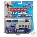 Набор игровой Maisto burnin key cars трейлер c авто