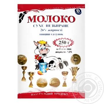 Молоко Молочний світ сухе 25% 250г - купити, ціни на МегаМаркет - фото 1