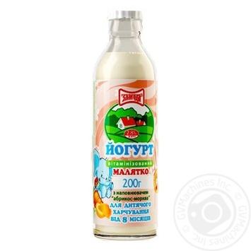 Йогурт Злагода Малятко Абрикос-Морковь витаминизированный для детей с 8 месяцев 2.8% 200г