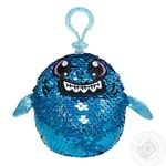 Мягкая игрушка Shimmeez S2 с паетками акула зубастик 9см