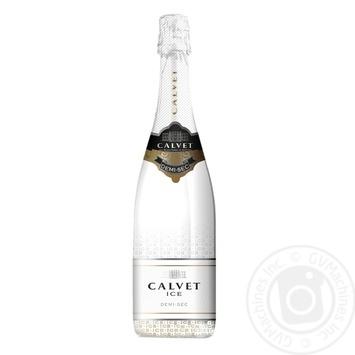 Вино игристое Calvet Ice Chardonnay белое полусладкое 11,5% 0,75л - купить, цены на Novus - фото 1