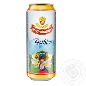 Пиво Perlenbacher Festbier светлое ж/б 5,5% 0,5л