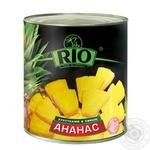 Ананасы Рио кольцами в сиропе 580мл Таиланд - купить, цены на Novus - фото 1