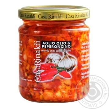 Соус Casa Rinaldi з часником олією та гострим перцем 190г - купити, ціни на МегаМаркет - фото 1