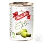 Оливки Diva Oliva зелені з огірками 314мл