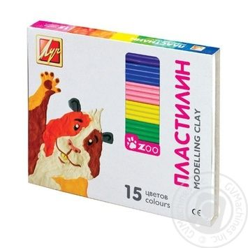Пластилин Луч Мини 20С1357-08 15 цветов
