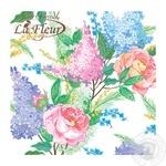 Серветки Luxy Бузкова ніжність тришарові 33х33см 15шт