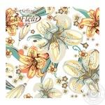 Салфетки La Fleur Полотно из лилий столовые бумажные 33х33см 2 слоя 20шт