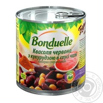 Фасоль Bonduelle красная с кукурузой в соусе чили 425мл - купить, цены на МегаМаркет - фото 1