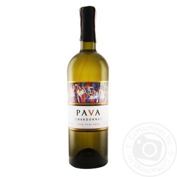 Pava Chardonnay Wine white dry 9,5-14% 0,75l - buy, prices for Novus - image 1