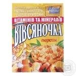 Каша овсяная Ваша Каша Овсяночка Сказочный Персик с сахаром быстрого приготовления 35г Украина