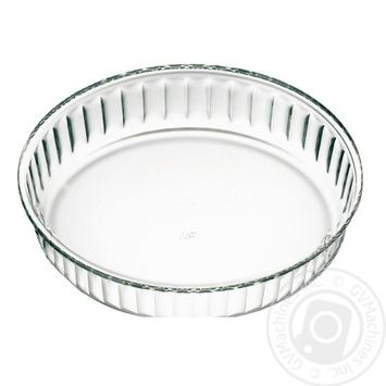 Simax Baking Dish of heat-resistant glass round corrugated 26X5,8cm - buy, prices for Novus - image 1