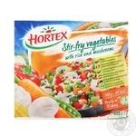 Овочі для смаження Hortex з рисом та печерицями 400г - купити, ціни на Novus - фото 1