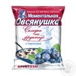 Каша Овсянушка овсяная с фруктозой и черникой 40г