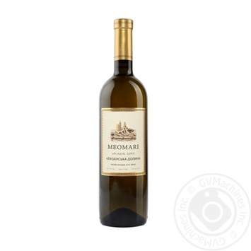 Вино Meomari Алазанська долина біле напівсолодке 12% 0,75л - купити, ціни на МегаМаркет - фото 1