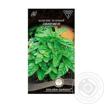 Насіння Базилік зелений Дженовезе Golden Garden 0,5г - купить, цены на Novus - фото 1