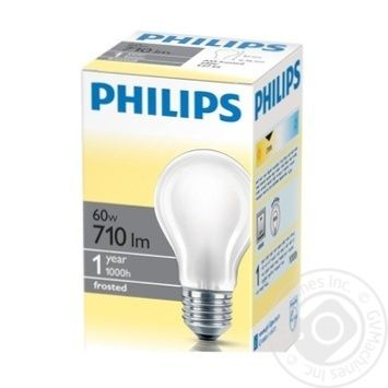 Лампа Philips A55 звичайна матова 60w Е27 FR - купить, цены на Novus - фото 1