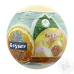 Бомба для ванни Geyser Оrange Blast гейзерна з капсулою ефірної олії апельсина 140г