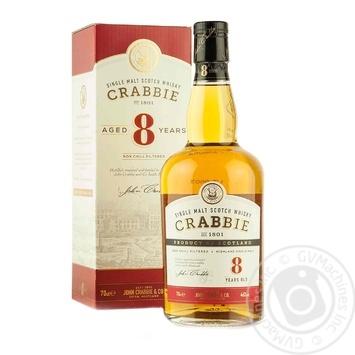 Crabbie 8 Yrs Whiskey 46% 0,7l In Box