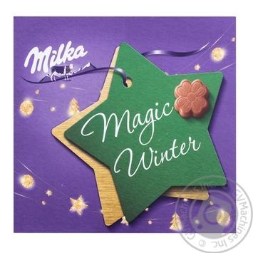 Конфеты из молочного шоколада Milka молочная начинка 110г - купить, цены на ЕКО Маркет - фото 1