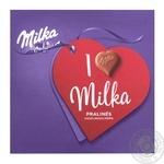 Цукерки з молочного шоколаду Milka горіхова начинка 110г