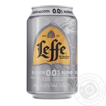 Пиво Leffe безалкогольне світле з/б 0.33л - купити, ціни на CітіМаркет - фото 1