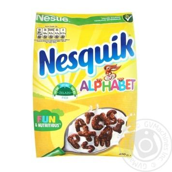 Сніданок готовий сухий Nesquik Alphabet з вітамінами та мінералами 460г - купити, ціни на Novus - фото 1