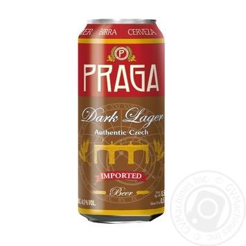 Пиво Praga Dark Lager темное 4,5% 0,5л