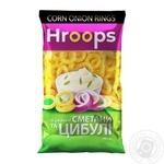 Снеки кукурузные Hroops со вкусом сметаны и лука 140г