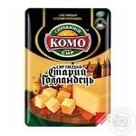Сыр Комо Старый Голландец твердый нарезанный 45% 150г - купить, цены на Novus - фото 2