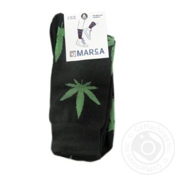 Шкарпетки чоловічі Marca Лист 31105 розмір 25-29 чорний - купить, цены на Novus - фото 1