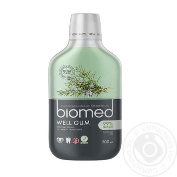 Ополіскувач комплексний для ротової порожнини Biomed Well gum 500мл - купить, цены на Novus - фото 1