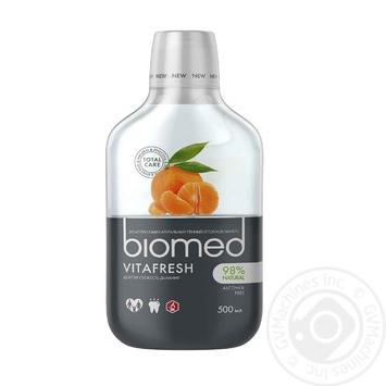 Ополаскиватель для полости рта BioMed Vitafresh защита от бактерий и кариеса 500мл - купить, цены на Novus - фото 1