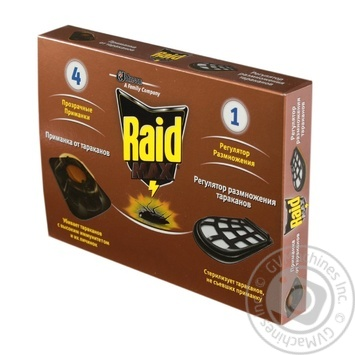 Raid Max Bait from cockroaches 4 baits + 1 breeding controller - buy, prices for Auchan - photo 1