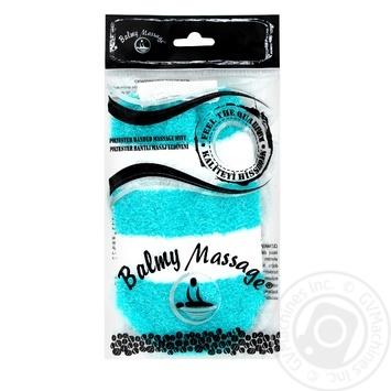 Мочалка-рукавичка з мікрофібри та синтетики Balmy Naturel - купить, цены на Novus - фото 1