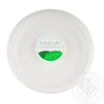 Тарелка бумажная Ekola 22см 10шт/уп - купить, цены на Novus - фото 1