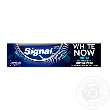 Зубная паста Signal Мгновенная белизна Суперчистота для мужчин 75мл - купить, цены на Ашан - фото 1
