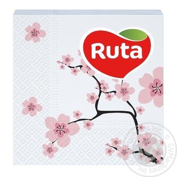 Салфетки Ruta Сакура 24х24см 40шт - купить, цены на Novus - фото 1