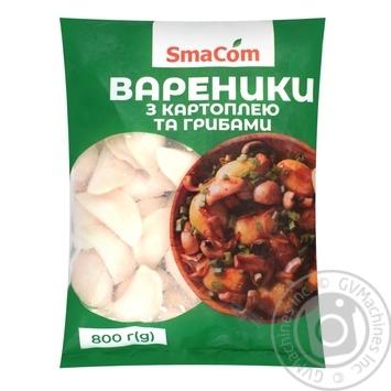 Вареники SmaCom с картофелем и грибами замороженные 800г - купить, цены на Varus - фото 1