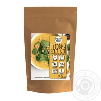Street Soup Chickpea Cream Soup 250g - buy, prices for MegaMarket - image 1