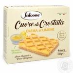 Печенье Falcone Cuore di Crostata с лимонной начинкой 240г