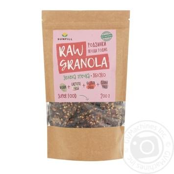 Гранола Sunfill Raw Granola Изюм и ягоды годжи 200г